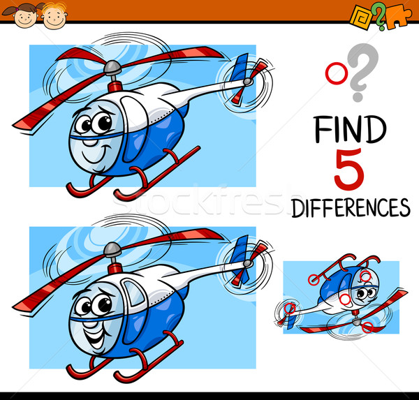 Farklılıklar görev karikatür örnek Stok fotoğraf © izakowski