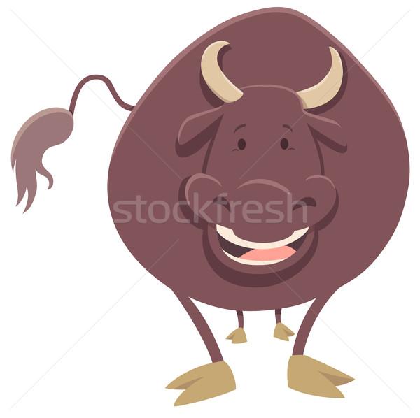 bull farm animal character Stock photo © izakowski