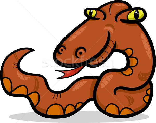 Yılan hayvan karikatür örnek komik sürüngen Stok fotoğraf © izakowski