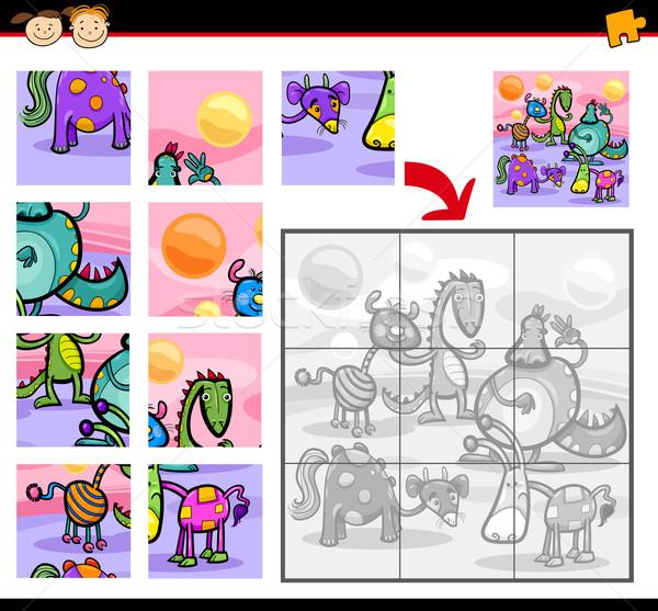 fantasy characters jigsaw puzzle game Stock photo © izakowski