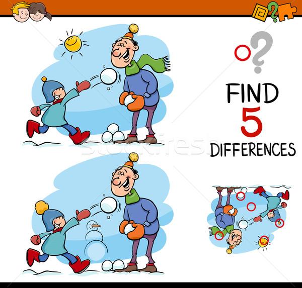 Bulmak farklılıklar görev karikatür örnek Stok fotoğraf © izakowski