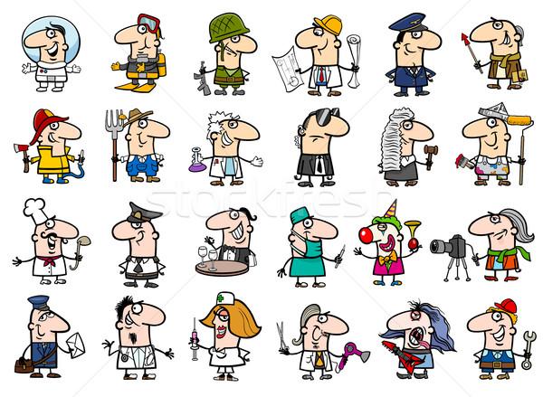 Cartoon ingesteld illustratie professionele mensen bezetting Stockfoto © izakowski
