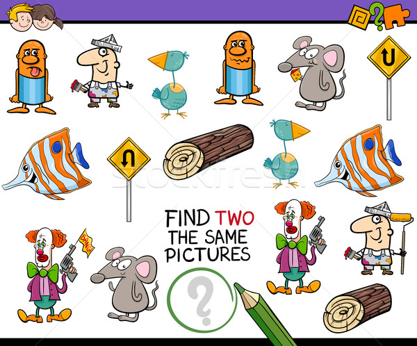 Etkinlik çocuklar karikatür örnek bulmak Stok fotoğraf © izakowski