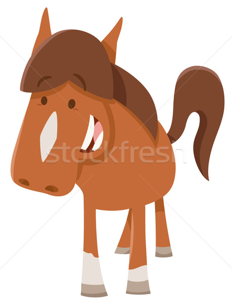 Aranyos póni haszonállat rajz illusztráció ló Stock fotó © izakowski