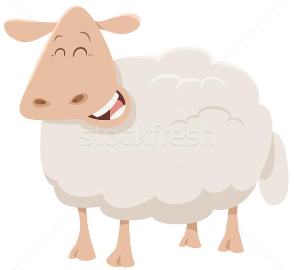 ストックフォト: 漫画 · 羊 · 動物 · 文字 · 実例 · かわいい