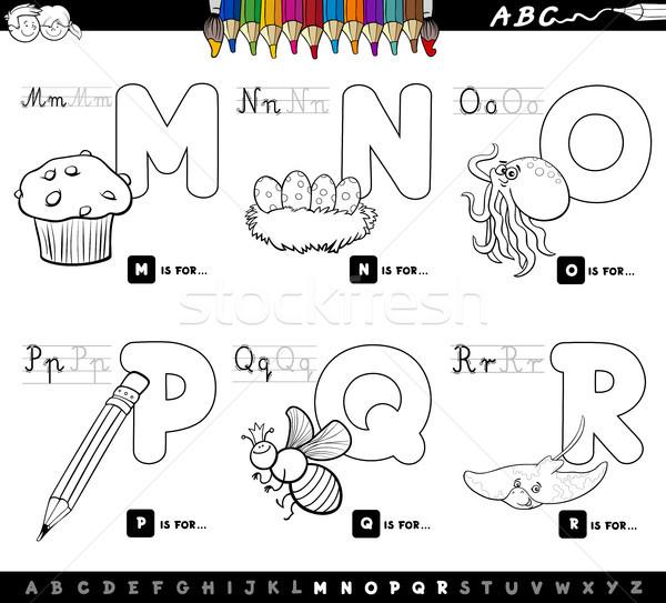 Educativo Cartoon alfabeto cartas color libro Foto stock © izakowski