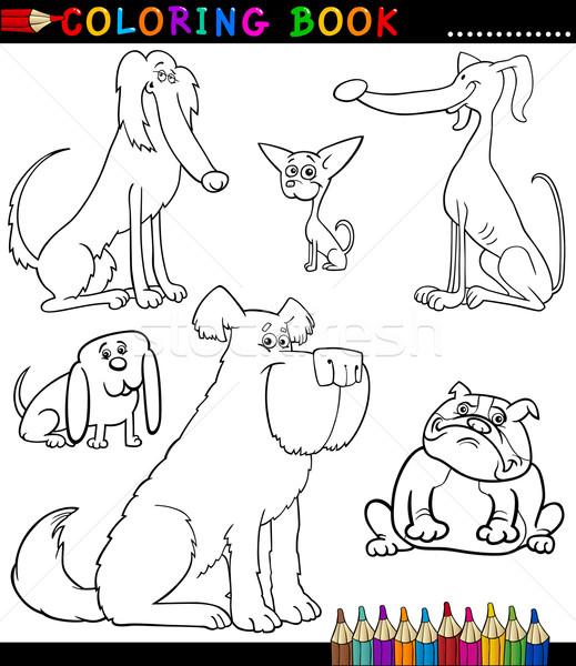 Cartoon Dogs or Puppies for Coloring Book Stock photo © izakowski