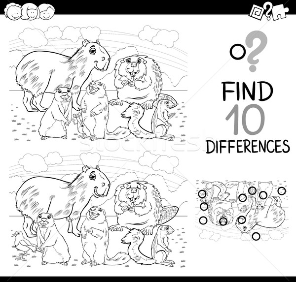 differences game with mammals Stock photo © izakowski