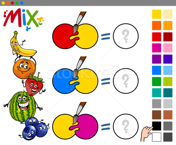 mix colors educational game Stock photo © izakowski