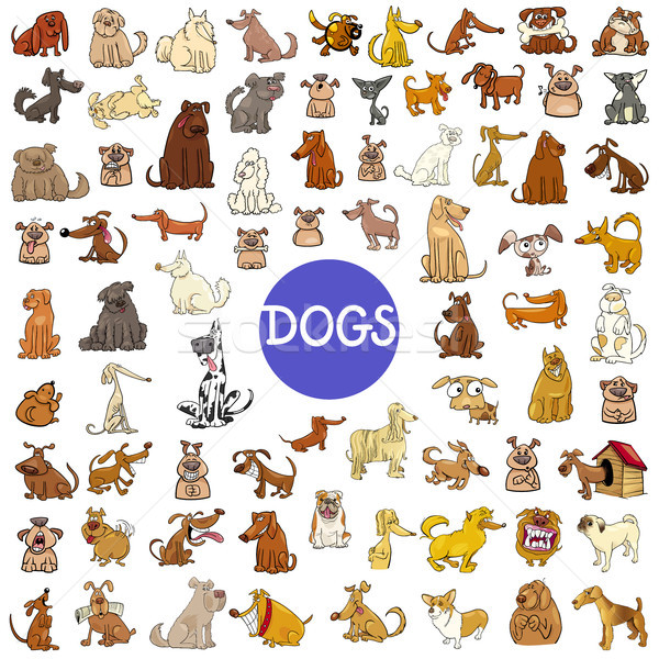 cartoon dog characters huge set Stock photo © izakowski