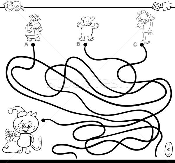 path maze game coloring page Stock photo © izakowski
