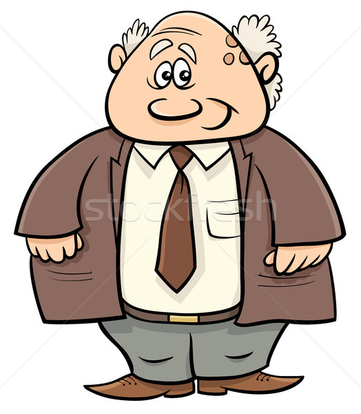 senior man professor cartoon illustration Stock photo © izakowski