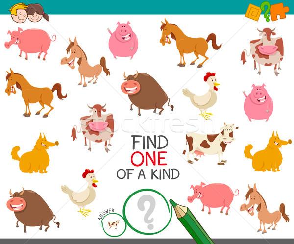 find one farm animal of a kind game Stock photo © izakowski