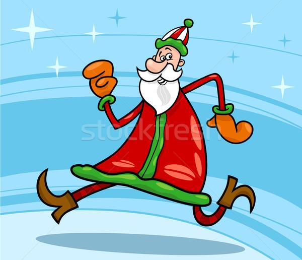 santa claus christmas cartoon illustration Stock photo © izakowski