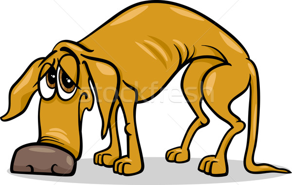 Triest daklozen hond cartoon illustratie helpen Stockfoto © izakowski