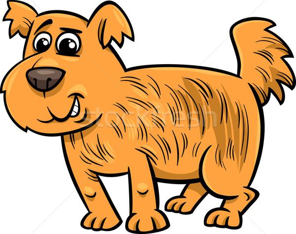 Kócos kutya rajz illusztráció aranyos vicces Stock fotó © izakowski