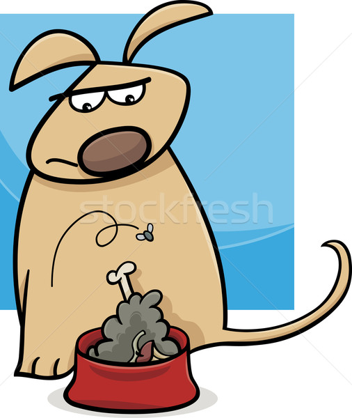dog and nasty food cartoon Stock photo © izakowski