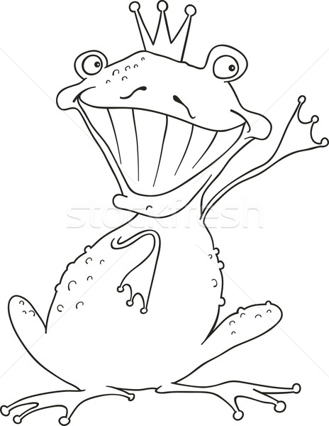 Prens Kurbağa Boyama Kitabı Karikatür örnek Komik
