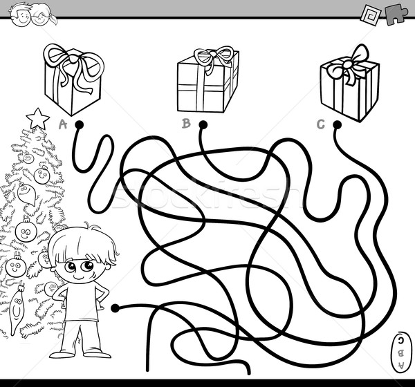 Stock photo: path maze task for coloring