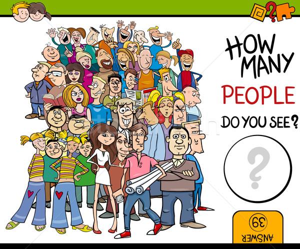 Mensen activiteit cartoon illustratie onderwijs kinderen Stockfoto © izakowski