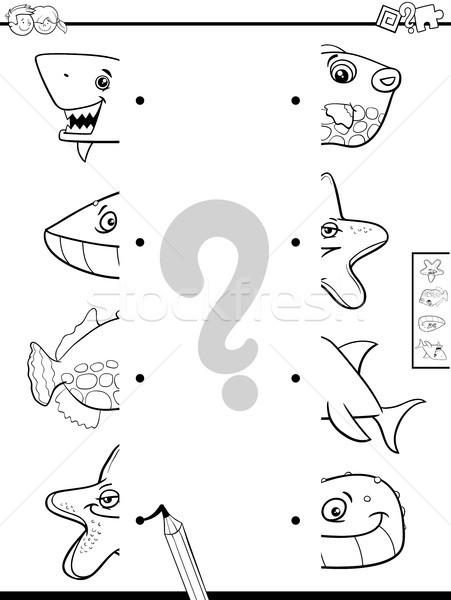Maç Hayvan Boyama Kitabı Siyah Beyaz Karikatür örnek