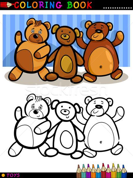 Сток-фото: Cartoon · книжка-раскраска · страница · иллюстрация · Cute
