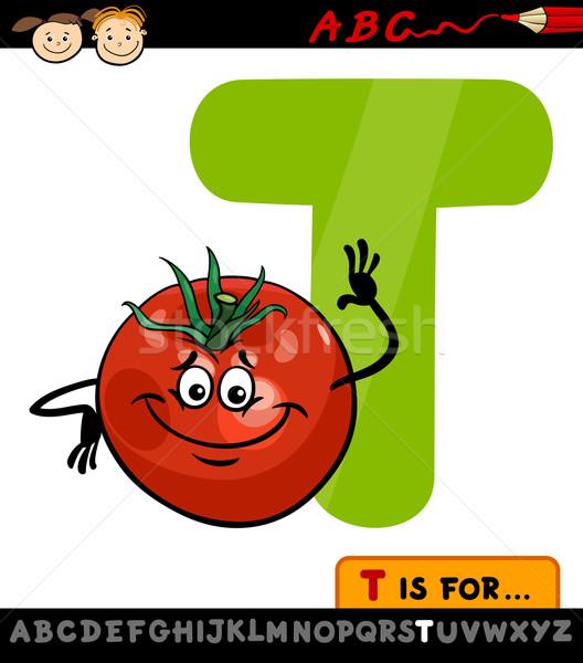 Letra t tomate Cartoon ilustración alfabeto Foto stock © izakowski