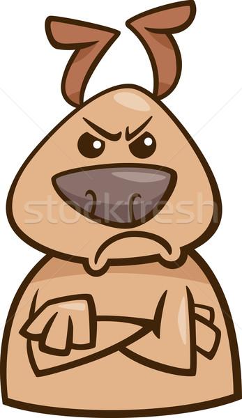 mood angry dog cartoon illustration Stock photo © izakowski
