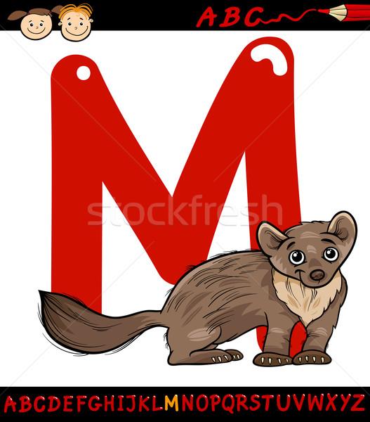 Letra m desenho animado ilustração alfabeto animal Foto stock © izakowski