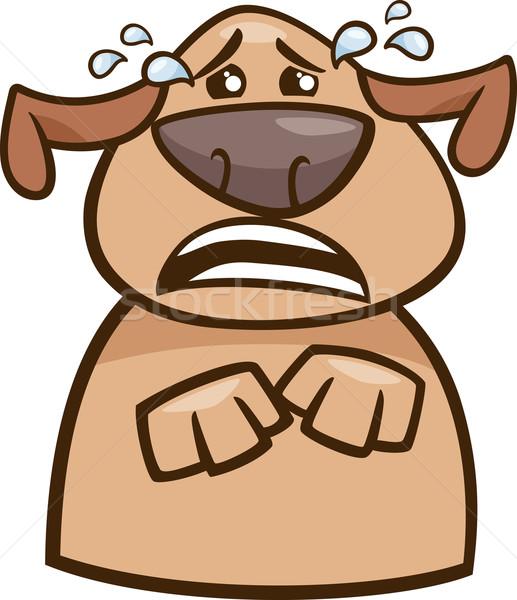 crying dog cartoon illustration Stock photo © izakowski