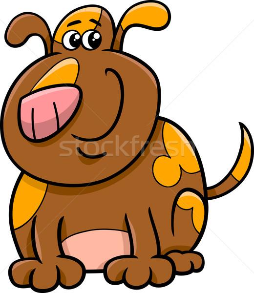 Stock photo: spotted dog cartoon