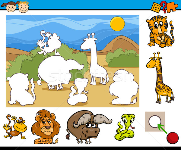 educational preschool game cartoon Stock photo © izakowski