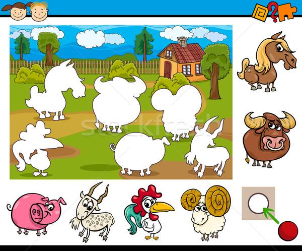 cartoon educational task for kids Stock photo © izakowski