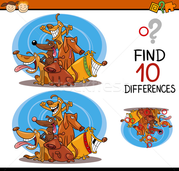 finding differences cartoon task Stock photo © izakowski