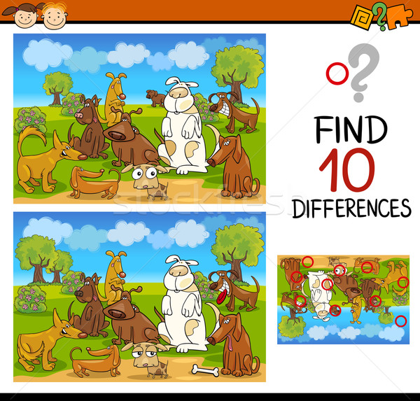 find differences educational task Stock photo © izakowski