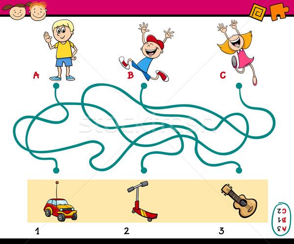 Labirinto quebra-cabeça tarefa desenho animado ilustração Foto stock © izakowski