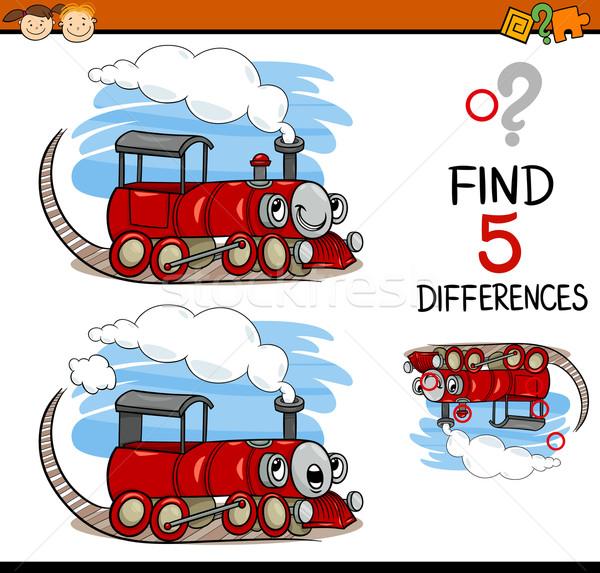 Tarea diferencias Cartoon ilustración educativo Foto stock © izakowski