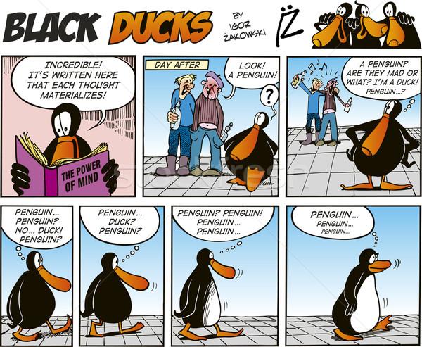 Zdjęcia stock: Czarny · komiks · uśmiech · funny · zdaniem