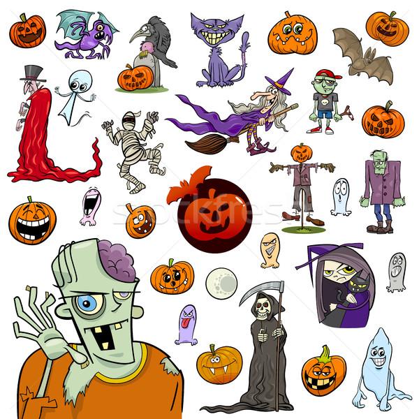 Stock photo: Halloween cartoon set