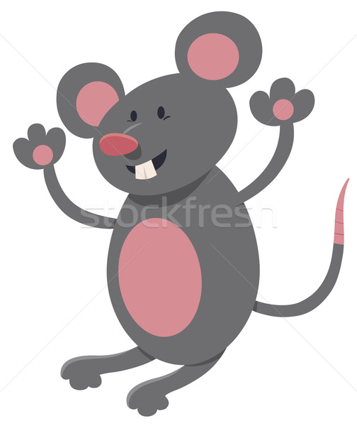 Egér sajt rajz illusztráció aranyos patkány Stock fotó © izakowski