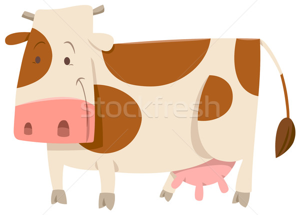 spotted cow cartoon animal Stock photo © izakowski