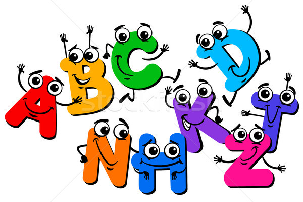 funny letter characters cartoon illustration Stock photo © izakowski