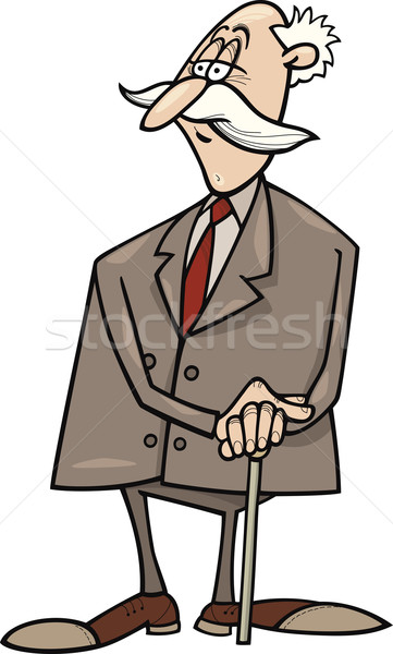 senior businessman Stock photo © izakowski