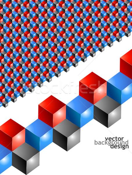 ベクトル 抽象的な 幾何学的な デザイン ポスター カバー ストックフォト © izakowski