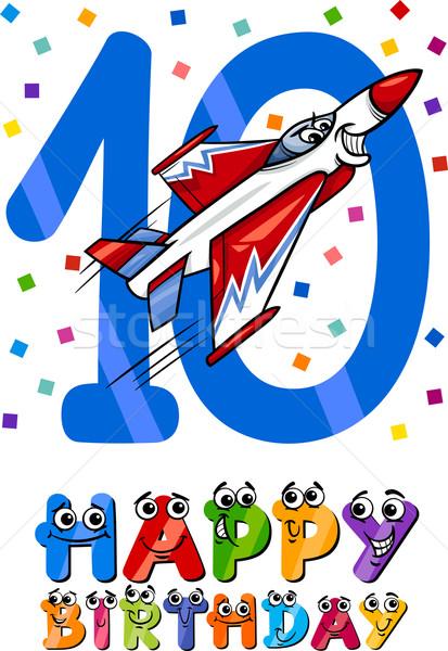 Cumpleanos Cartoon diseno ilustración aniversario ninos Foto stock © izakowski