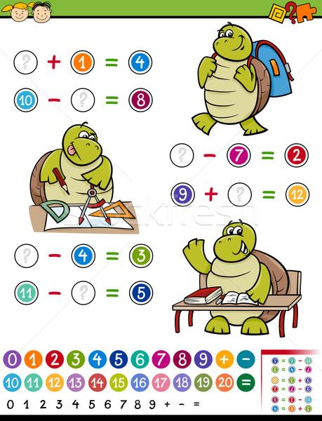 Gioco cartoon illustrazione istruzione matematico algebra Foto d'archivio © izakowski