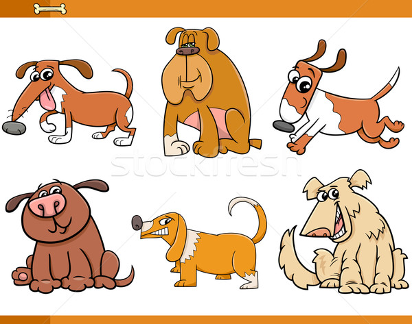 Cani cartoon set illustrazione animali Foto d'archivio © izakowski
