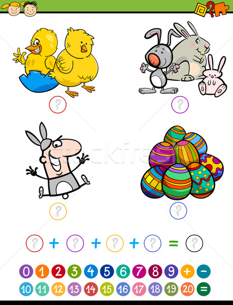 mathematic game for children Stock photo © izakowski