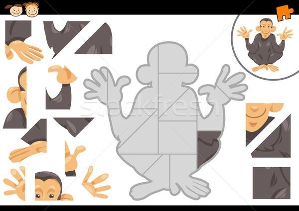 óvoda kirakós játék feladat rajz illusztráció oktatási Stock fotó © izakowski
