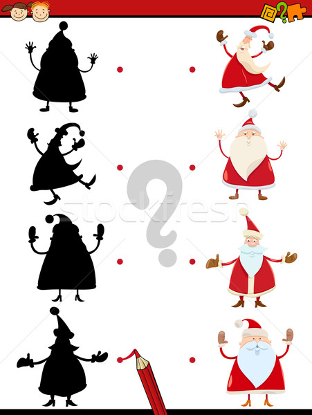 shadow task with santa claus Stock photo © izakowski
